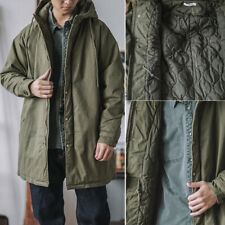 Men' Winter Warm M51 Fishtail Parka Trench Coat Hooded Military Casual Jacket