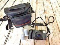 Vintage 35 mm Olympus Camera Multi Zoom Case & Film