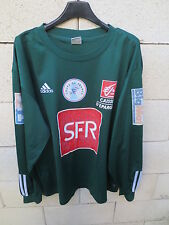 VINTAGE Maillot COUPE DE FRANCE porté n°4 vert ADIDAS SFR match worn shirt XL