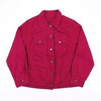 Vintage JESSICA LONDON Maroon Red Denim Jacket Womens Size Large