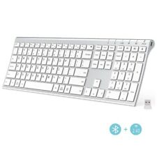 iClever Bluetooth Keyboard - 2.4G Wireless Keyboard Rechargeable Bluetooth
