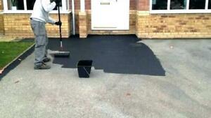 20ltr driveway black tarmac paint-restorer-sealant drive master (hard wearing)
