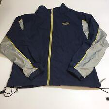 Vintage K-Swiss Apparel Wind Breaker Track Jacket Men's L Blue Yellow Lined