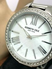 Kenneth Cole Women's Watch KC1059001 Crystal Accented White MOP Dial 40mm