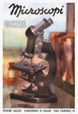 PUBBLICITA 1941 OFFICINE GALILEO FIRENZE MICROSCOPIO STRUMENTI DI PRECISIONE