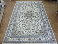 11'10 x 17'9 Hand Knotted Ivory Fine Nain With Silk Oriental Rug G8749