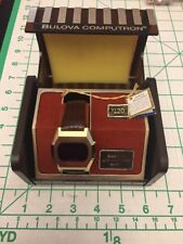 Vintage Men's Bulova Computron LED Watch 1970s NEW Old Stock Box PARTS/REPAIR