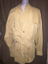J. Peterman Company ASNEW khaki cotton classic Out of Africa safari jacket L