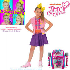 JOJO SIWA COSTUME BOOMERANG DANCE MUSIC VIDEO POP STAR BOW GIRL S:L 8-10Y CHILD
