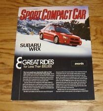 2005 Subaru WRX Sport Compact Car Sales Brochure 05