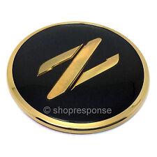 JDM Nissan 90-96 300ZX Fairlady Z Z32 Front Z Emblem Badge Black & Gold Genuine
