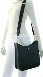 Michael Kors Briley Large Crossbody Messenger PVC Leather Bag Black NWT$398.00