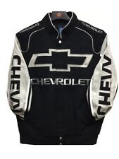 2019 Authentic Chevy Chevrolet Racing Embroidered Cotton Jacket JH Design Black