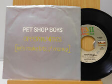 Pet Shop Boys 45 Opportunites bw Was That What It Was   Emi VG++