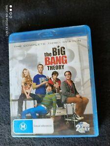 THE BIG BANG THEORY---COMPLETE SEASON 3 BLUE -RAY DVD BOX SET