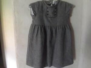 classic Jacadi PARIS Girls Grey Dress 6 Y- WOOL BLEND for age 6-French design