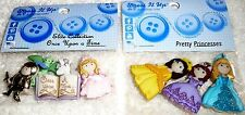 Dress It Up Buttons ONCE UPON A TIME & PRETTY PRINCESS by Jesse James Lot of 2
