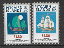 PITCAIRN ISLANDS POSTAL ISSUE QE11 MINT SET STAMP - 1996 9th STAMP EXHIBITION