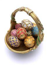 Fabrege Spring Egg Basket TFM 9 Eggs Porcelain Hallmarked