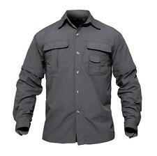 TACVASEN Mens Shirts Quick-Drying Anti-UV Army Military Shirt Short Casual Shirt