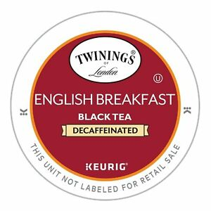 Twinings DECAF English Breakfast Tea 24 to 144 Count Keurig Kcups Pick Any Size