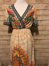 NWT Flying Tomato Maxi Dress Boho Festival  Multicolor Women's Size Extra Small