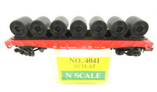 Model Power N Scale #4041 50' Flat Car w/Load GN Great Northern 41536    S42