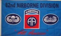 BLUE 82ND AIRBORNE FLAG NEW 3x5 ft BANNER better quality usa seller