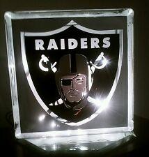 Lighted Raiders Glass Block Light~ Home Decor~Gift~Lamp