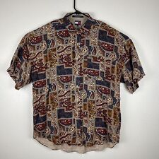 Vintage Tommy Hilfiger Button Up 90s Paisley Shirt All Over Print  XL S/S