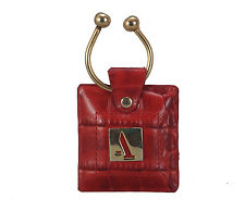 ADAdamis 100% Genuine Leather Keychain W269 Red