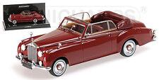 MINICHAMPS 436134930 - ROLLS ROYCE SILVER CLOUD II CABRIOLET - 1960 rouge 1/43