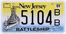Plaque d'immatriculation américaine NEW JERSEY Battleship