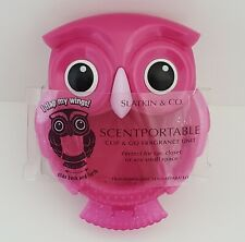 Retired Pink Owl Scentportable Bath Body Works Car Visor Clip No Disc Wings Flap