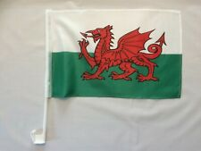 More details for wales car flag - 1x welsh dragon st david vehicle window supporters 45cmx 30cm