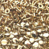 Brass Plated Medium Rapid Rivets 100 Pack 1273-11 by Stecksstore