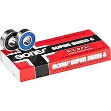 Bones Bearings - 8mm Bones Super Swiss 6 Skateboard Bearings - Swiss