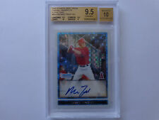 2009 Bowman chrome MIKE TROUT X FRACTORS BGS 9.5 10 AUTO FREE OVERNIGHT SHIPPING