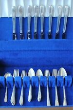 1847 ROGERS SILVERPLATED FLATWARE SET ADORATION 1930 ~ GRILLE SET ~ 37 PIECES