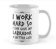 LABRADOR LOVER GIFT MUG LAB present Black chocolate yellow tea coffee