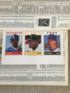 Ken Griffey Jr. RC Rookie Uncut Sheet Sports Collectors Price Guide OCT 1989 SCD