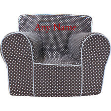 Insert For Pottery Barn Anywhere Chair +Chocolate Microdot Small Cover Embroider