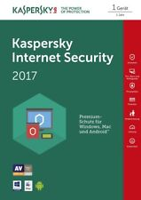 Kaspersky Internet Security 1-PC/1Jahr (für 2017 / 2018) Deutsch / Dowload / KEY