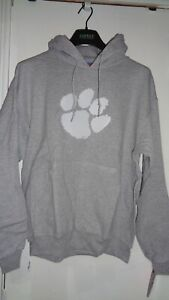 Clemson Tigers NCAA Gray Pull Over Hoodie Size Large