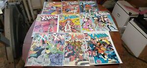 X-MEN Comics (The Uncanny)  LOT (27)  plus ANNUALS  VG+-NM (runs) Bagged/Boarded