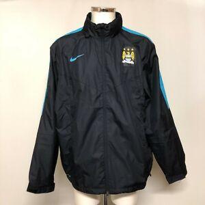 Nike Manchester City Jacket Men's Size XXL Navy Blue Football Storm-Fit 023988
