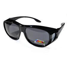 Polarized Womens Mens Large Fit Over Polarised Sunglasses Vintage 009A Black