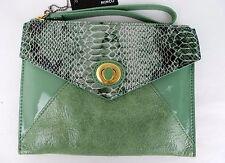 Mimco Womens Fiction Envelope Clutch Bag/ Handbag in Spearmint BNWT- rrp$149