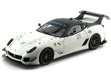 HOT WHEELS ELITE FERRARI 599XX 599 XX EVO #2 WHITE 1/18 DIECAST MODEL CAR BCJ92