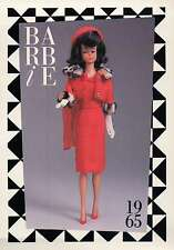 "Barbie Collectible Fashion Trading Card "" Matinee Fashion "" Hat & Gloves 1965"